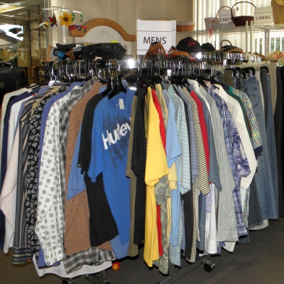 Mens clothing rack.